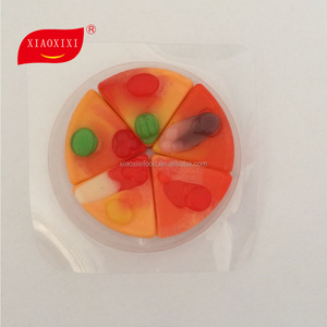 China supply gummy pizza/gummy candy customized