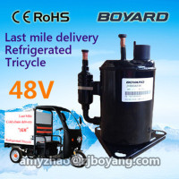 12 volt refrigerator compressor for 12v 24v 48v transportation refrigerated tricycle freezing cabin