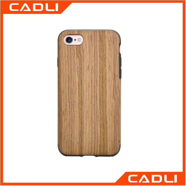 Real wood Texture TPU Protector Back Covers Shell Phone case for iPhone 7