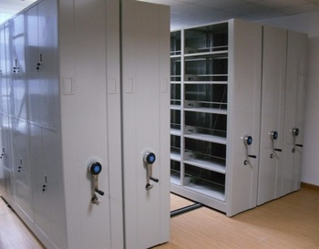Metal File Storage Mobile Compactor/ Space Saving Movable Shelving System