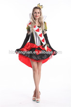 tenue sexy verkleidung ALICE IN WONDERLAND QUEEN OF HEARTS LADIES FANCY DRESS COSTUME disfraz