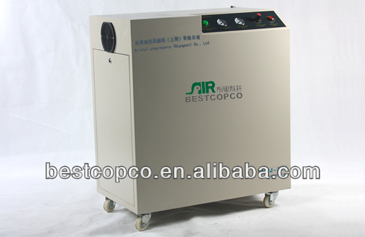Oil free silent portable screw air compressor for sale with CE/ISO certificate