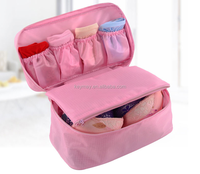 Women Girl polyester Travel Cosmetic Makeup Bag Toiletry Wash Storage Case Underwear Bra Bag