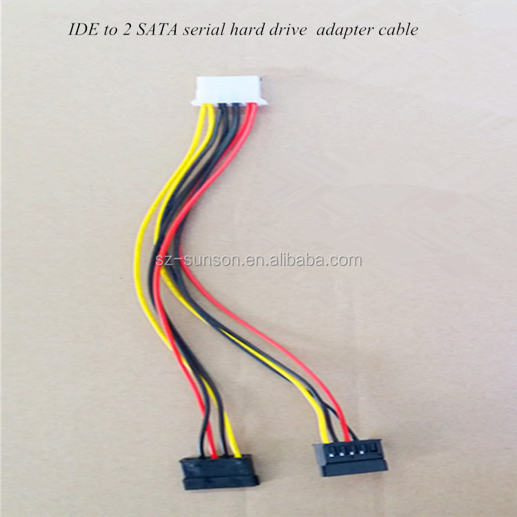 High quality IDE to 2 SATA serial hard drive adapter cable