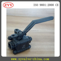 A105 three PIECE CLASS 800 FIRE SAFE BALL VALVE