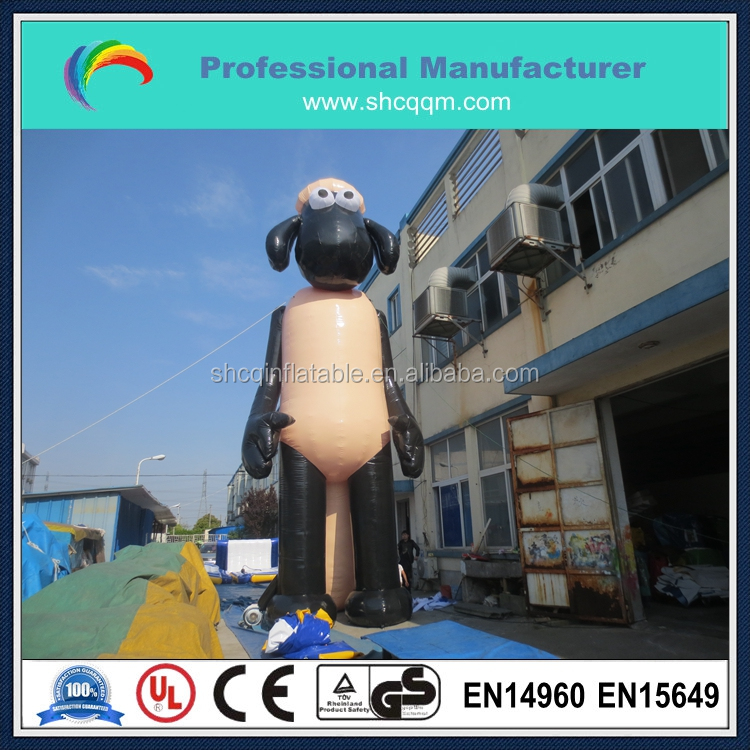 inflatable movie sheep for advertising 10m high/giant inflatable sheep cartoon for sale/big inflatable sheep character for sale