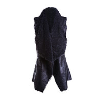 Latest fashion designs sexy women fur vest
