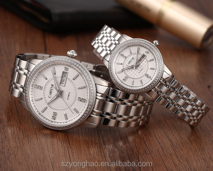 HK fair hot selling couple automatic watch