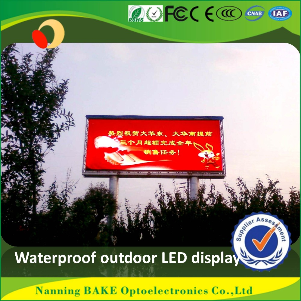 P10 outdoor fixed advertising led display customized pylon sign