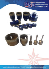 Different size Brazed diamond hole saws/hollow core drill bit for hard rock