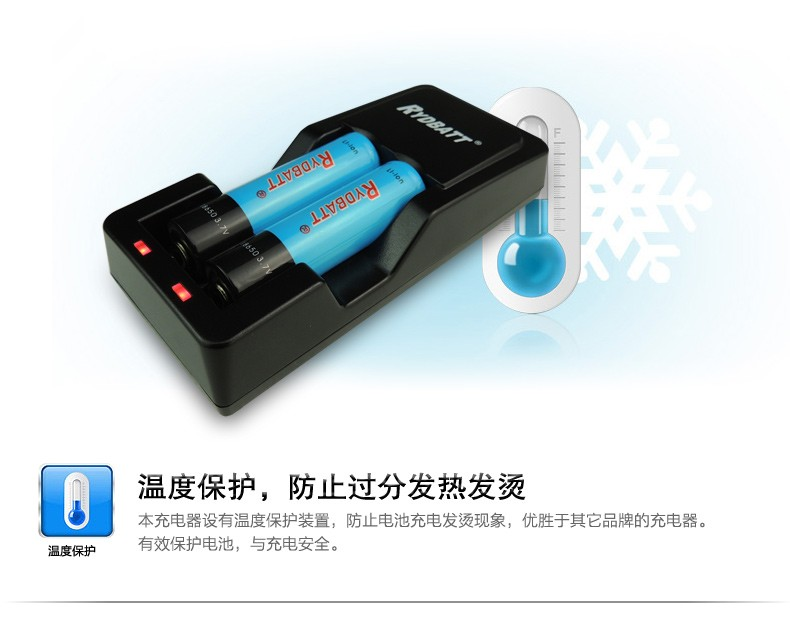 2-Slot 18650/18500/14500 Li-ion Battery Charger