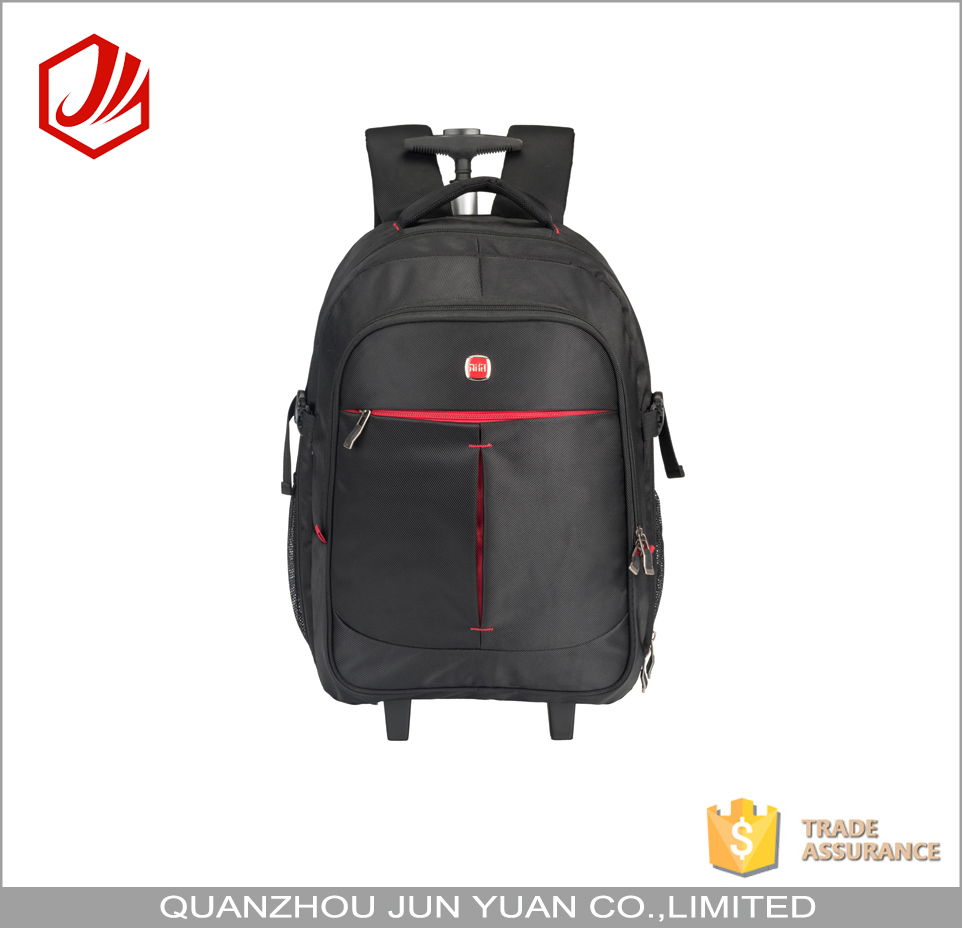 High quality custom business laptop trolley bag with detachable wheels