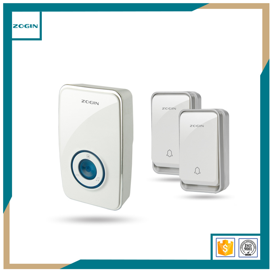 Wireless Ring Door Chime for Restaurant Self Powered Multi Plug-in No Need Battery Commercial Apartment Door Bell