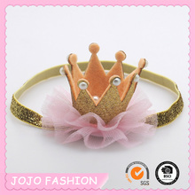 Japanese and south Korean children's hair accessories manufacturer wholesale pearl crown hair band Baby headdress jewelry