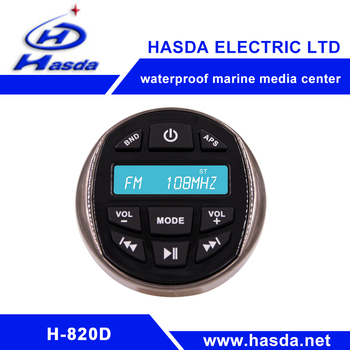 New design high power Marine design mp3 player with radio