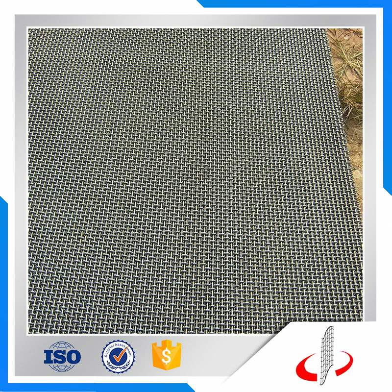 Plain Stainless Steel Woven Crimped Wire Mesh For Filter