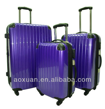 abs pc travel luggage 2015 fashion ABS/PC luggage set hard luggage abs pc trolley luggage