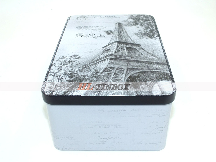Retangular Storage Metal Box Gift Tin Can