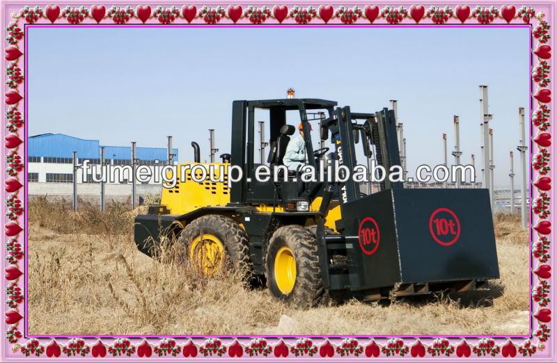 four wheel drive cross country 10 ton capacity forklift