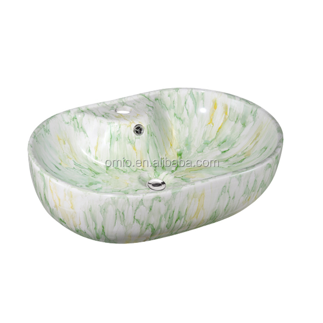 Color wash basin stone bathroom vanity Italy style wash basin