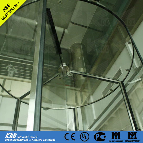 Crystal revolving door, China manufacturer, tempered glass
