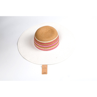 cw1643 Wholesale custom raffia paper straw hat bands High quality boater wheat nature straw hat for women