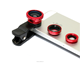 Clip-on 3 in 1 Fisheye Wide Angle Macro Camera Lens for Iphone 6 Iphone 6plus 5 5s 4 4s Samsung