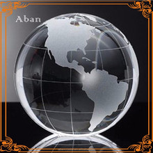 wholesale crystal glass globe with logo engraving glass base