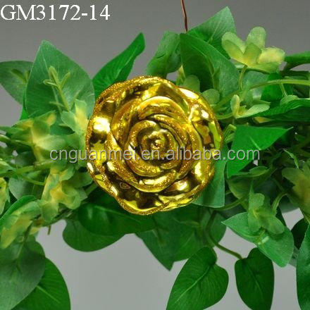Gold Rose Valentine Flower Arrangements Artificial Flowers for Sale