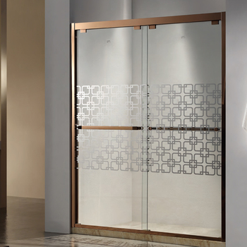 Luxury Golden color flat bath shower screens from Foshan supplier