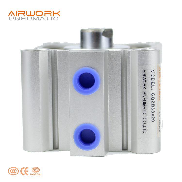 CQ2B63X20 Standard Aluminum Compact Pneumatic Air <strong>Cylinder</strong> Double Acting