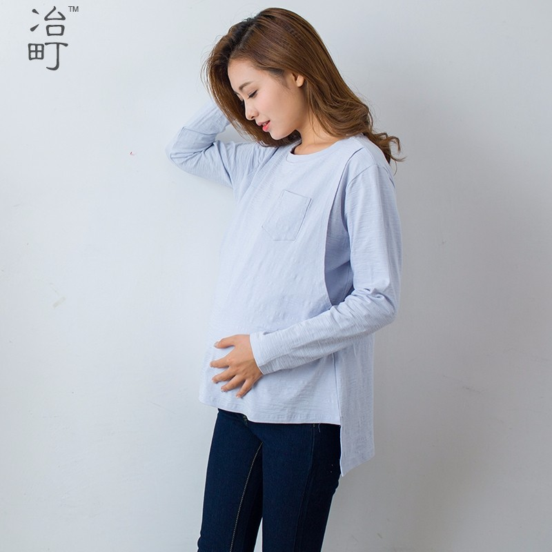 Hot sale new organic cotton maternity clothes nursing spring autumn underwear tops breastfeeding tops