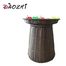 extra large wicker baskets with lids for supermarket storage woven cheap plastic baskets storage