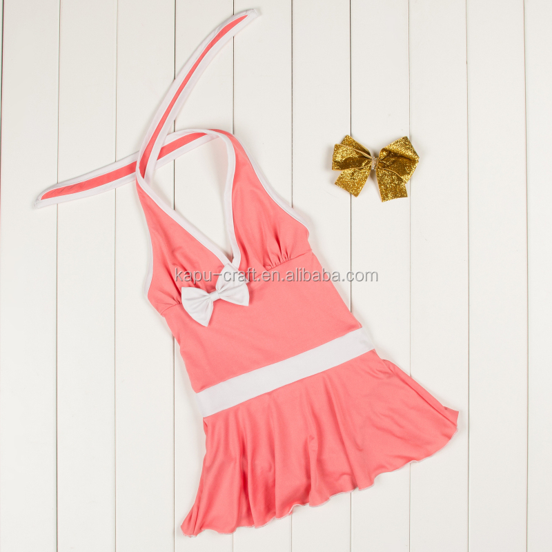 2014 fashion kids one piece swimwear/girl children Sexy Strap Swimsuit
