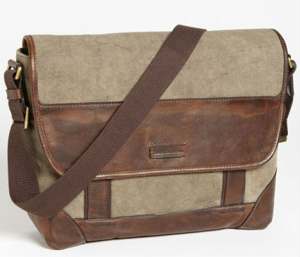 Vintage Waxed canvas messenger bags