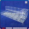 TSD-A633 Custom countertop acrylic eyeshadow display stand,transparent lipstick holder,clear acrylic makeup organizer