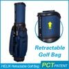 HELIX High quality golf travel bag with wheels double strap