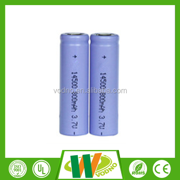 Factory direct 3.7v icr 14500 li-ion rechargeable battery, cylinder lithium battery,rechargeable battery