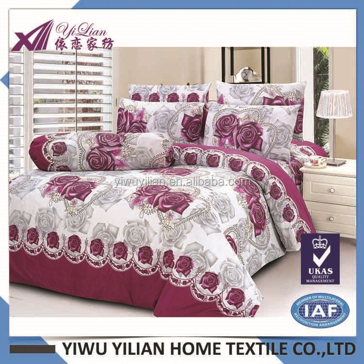 Manufacturer price simple design printed cute duvet cover bedding set fast delivery