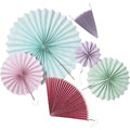 2015 NEW Rosette Paper Hand Fans Wedding party hanging decoration