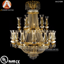 Antique French Empire Chandelier Crystal