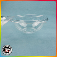 32oz food container round plastic salad clear bowl with lid