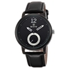 SKONE 9240 Black Leather Band Black Dial Cheap Customized Logo Watch