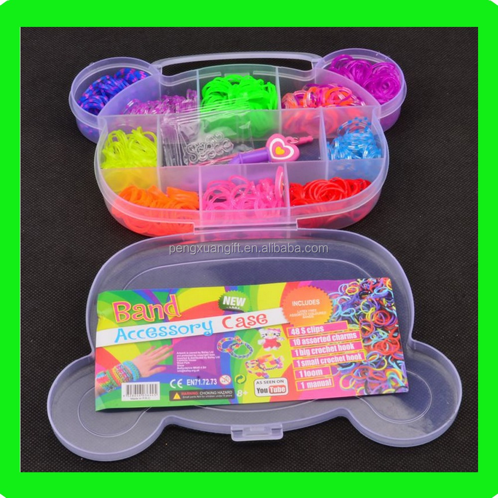 Hot Sale DIY Colorful Rubber Band Bracelet Maker DIY Fun Silicone Loom Rubber Bands Fashion Girl Rubber Bands