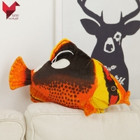 Marine animal simulation butterfly fish plush stuffed soft toy