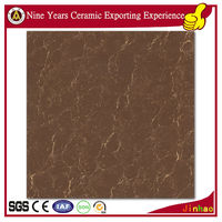 Bathroom polished chocolate brown wall tiles
