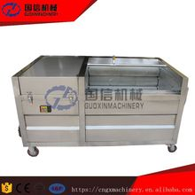 industrial brush type vegetable fruit sweet potato washing peeling polish machine