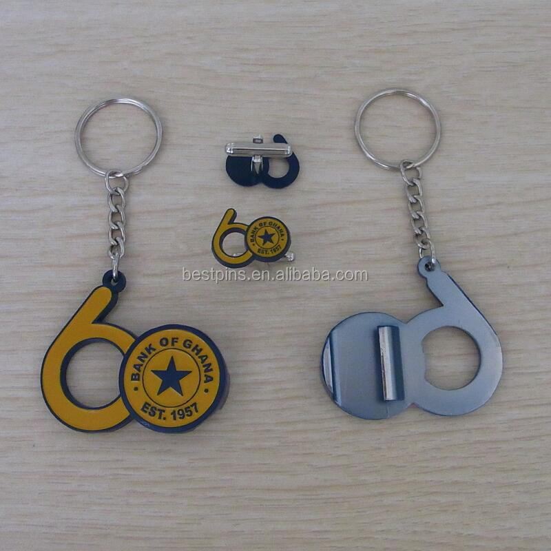 bank of ghana 60 years anniversary metal beer bottle opener keyring and cuff links sets