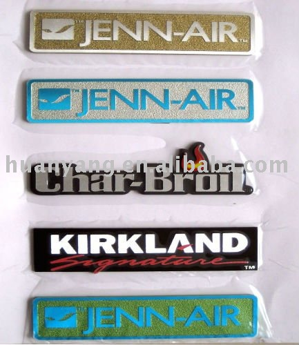 Diamond cut logo nameplate printing