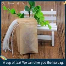 Customized tag Drawstring seal Empty unbleached Filter Paper Tea Bag